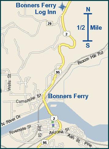 Bonners Ferry Motels  Bonners Ferry Log Inn  Idaho ID 83805